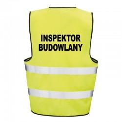 Kamizelka ostrzegawcza z nadrukiem Inspektor Budowlany