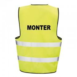 Kamizelka ostrzegawcza z nadrukiem Monter