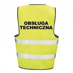 Kamizelka ostrzegawcza z nadrukiem Obsługa Techniczna