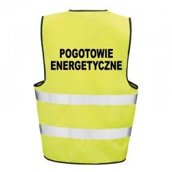 Kamizelka ostrzegawcza z nadrukiem Pogotowie Energetyczne