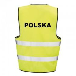Kamizelka ostrzegawcza z nadrukiem Polska