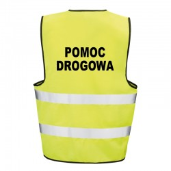 Kamizelka ostrzegawcza z nadrukiem Pomoc Drogowa