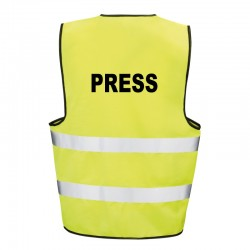 Kamizelka ostrzegawcza z nadrukiem Prasa Press