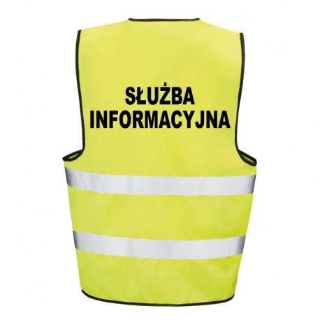 Kamizelka ostrzegawcza z nadrukiem Służba Informacyjna