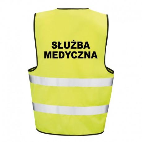 Kamizelka ostrzegawcza z nadrukiem Służba Medyczna