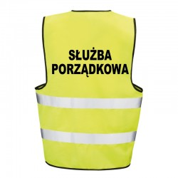 Kamizelka ostrzegawcza z nadrukiem Służba Porządkowa