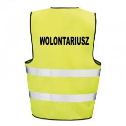 Kamizelka ostrzegawcza z nadrukiem Wolontariusz