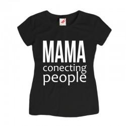 Koszulka z nadrukiem Mama conecting people