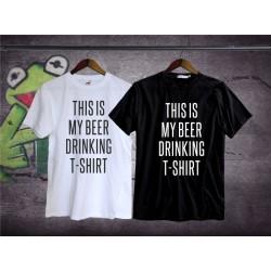 Śmieszna koszulka Drinking t-shirt