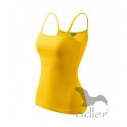 Koszulka damska ADLER Spaghetti Top żółta
