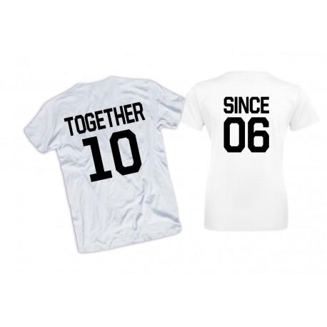 Koszulki Togehter Since - komplet