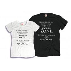 Komplet koszulek dla Niego i dla Niej: Modliłam/-em się o dobrego Męża/Żonę