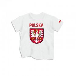 Koszulka dziecięca Polska - Godło - Flaga