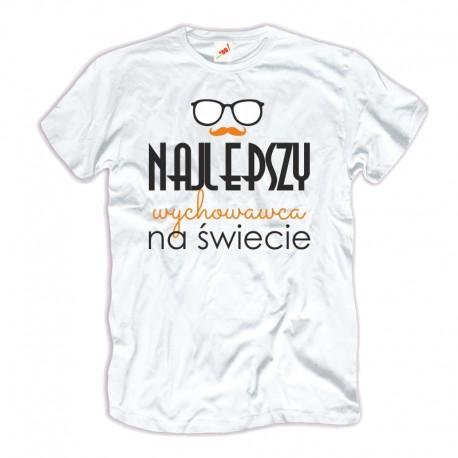 Męska koszulka na Dzień Nauczyciela Najlepszy wychowawca na świecie