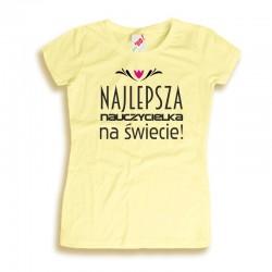 Damska koszulka na Dzień Nauczyciela Najlepsza nauczycielka na świecie