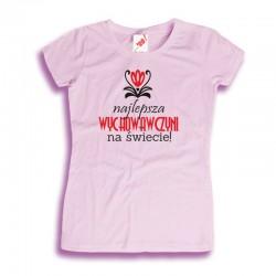 Damska koszulka na Dzień Nauczyciela Najlepsza wychowawczyni na świecie