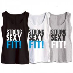 Damska koszulka na szelkach: Strong, sexy, fit!