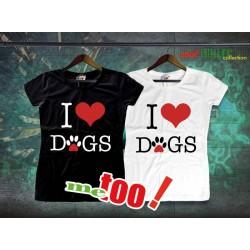Koszulka Damska I love dogs