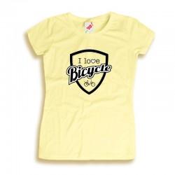 Koszulka damska z nadrukiem I love bicycle
