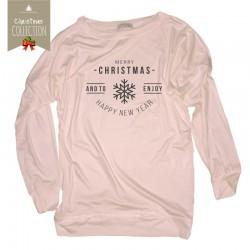 Bluza damska świąteczna Merry Christmas snowflake