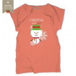 Koszulka damska  Christmas snowgirl