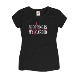Koszulka z nadrukiem Shopping is my Cardio