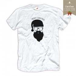 Koszulka męska Hipster santa