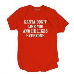 Śmieszna koszulka męska Santa don't like you