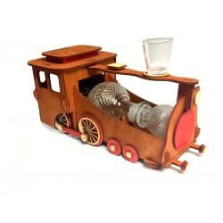 Drewniany pociąg - karafka