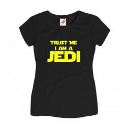 Koszulka damska z nadrukiem Trust me I am a JEDI