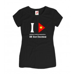 Koszulka damska I love San Escobar