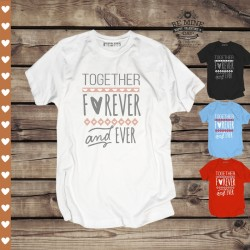 Koszulka Męska z nadrukiem Together forever