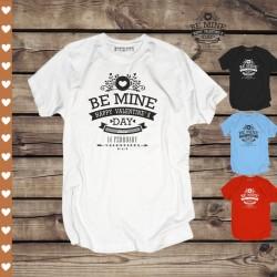 Koszulka Męska Be Mine - Happy Valentine's Day