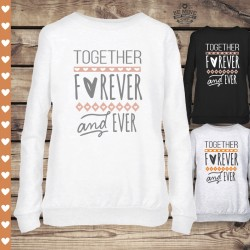 Ciepła klasyczna bluza damska Together forever and ever
