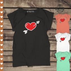 Koszulka damska Serce przebite strzałą
