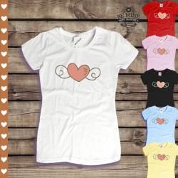 Koszulka damska Serce ze skrzydłami