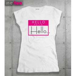 Koszulka damska z nadrukiem Hello, hello hello
