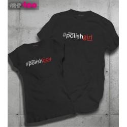 Komplet koszulek dla zakochanych: Polishgirl Polishboy