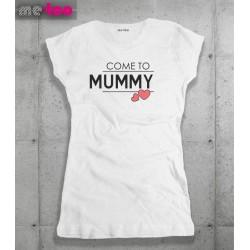Damska koszulka z nadrukiem Come to Mummy