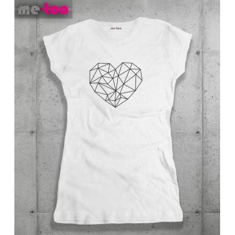 Koszulka damska Geometric heart