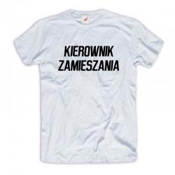Śmieszna koszulka Kierownik Zamieszania