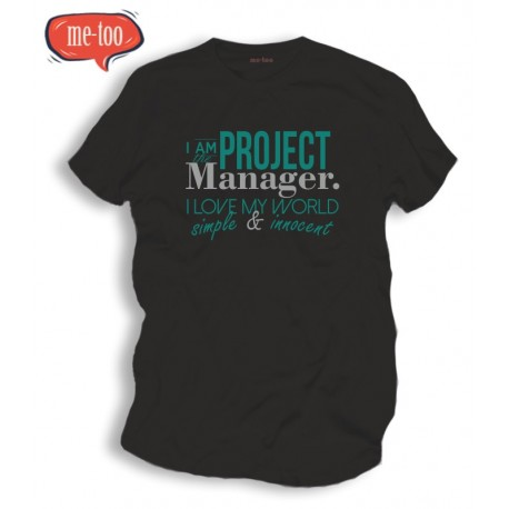 Koszulka męska z nadrukiem Project manager