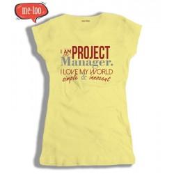 Koszulka damska z nadrukiem Project manager