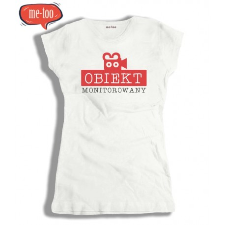 Koszulka damska z nadrukiem Obiekt monitorowany