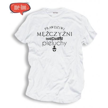 Koszulka męska z nadrukiem Prawdziwi mężczyźni zmieniają pieluchy