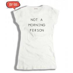Koszulka damska z nadrukiem Not a morning person