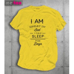 Męska koszulka I am Great in Bed I can sleep for days