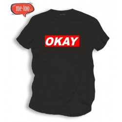 Koszulka z nadrukiem OKAY