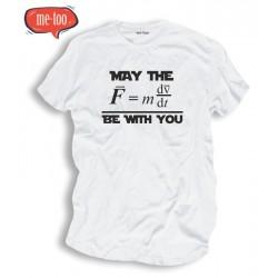 Koszulka męska z nadrukiem May the Force be with you / wersja naukowa