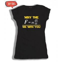 Koszulka damska z nadrukiem May the Force be with you / wersja naukowa